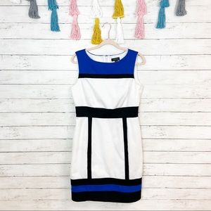 Tahiri ASL Colorblock Career Shift Dress Size 10